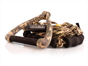 """Liquid Force Surf DLX 9"""" Handle Combo With Float, 24' Mainline Camo"""