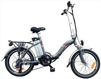 "Narbonne E-Scape E-Bike Folding Electric Bicycle, 20"" Grey"