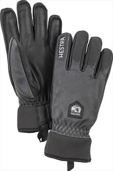 Hestra Army Leather Wool Terry Ski/Snowboard Gloves, XXL Grey/Black