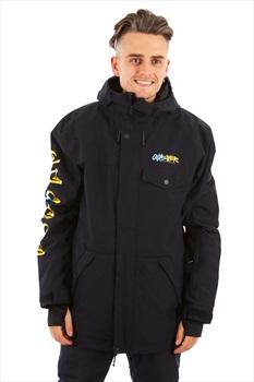 Quiksilver In The Hood Shell Ski/Snowboard Jacket, M Black Logo
