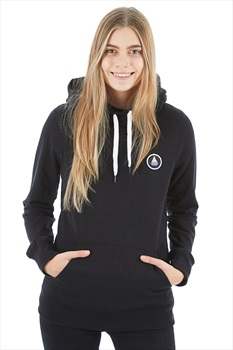 Volcom Saloon Fleece Women's Ski/Snowboard Hoody, L Black