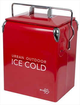 Bo-Camp Urban Outdoor Retro Cooler Greenwich Cool Box, 17L Red