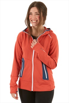 Ortovox Fleece Light Women's Full Zip Hoodie, M Blush