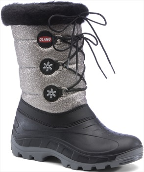 Olang Patty Lux Winter Snow Boots, UK 1.0/2.5 Metallic Silver
