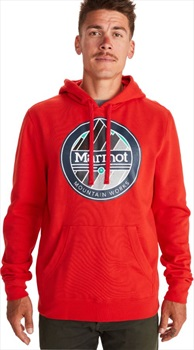 Marmot Chock Pullover Hoodie, L Victory Red