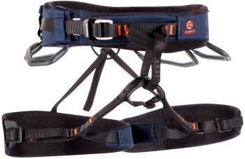 Mammut Comfort Knit Fast Adjust Rock Climbing Harness L Navy/Orange