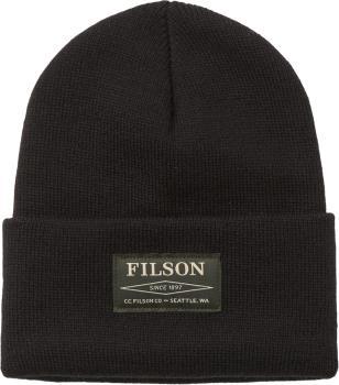 Filson Watch Cap Beanie, OS Black