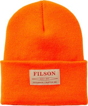 Filson Watch Cap Beanie, OS Blaze Orange