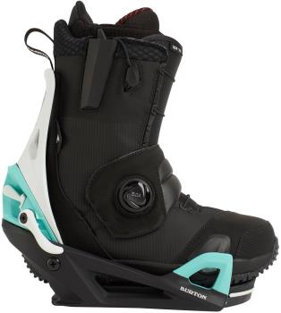 Burton Ion Step On Snowboard Binding & Boots, UK 10 Black/Teal 2021