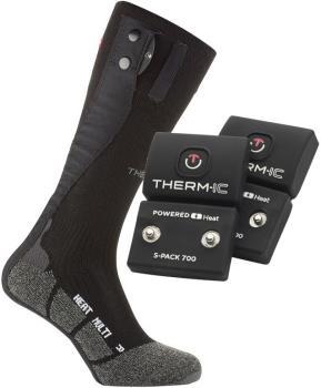 Therm-ic Sock Set Multi S-700 Heated Ski Socks, L Black