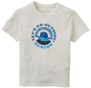 Burton Toddler Kids' Short Sleeve Cotton T-Shirt, 4T Stout White