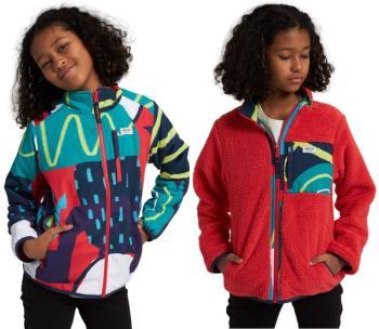 Burton Girls Snooktwo Reversible Fleece Jacket, M Hibiscus/Graphic