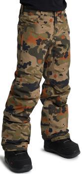Burton Boys Barnstorm Snowboard Pants, Medium Kelp Birch Camo