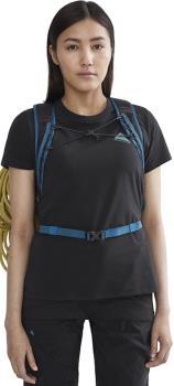 Klattermusen Runa Workshop Women's Short Sleeve T-Shirt, UK 12 Raven