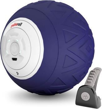 Pulseroll Single Vibrating Handheld Massage Ball Roller, Purple