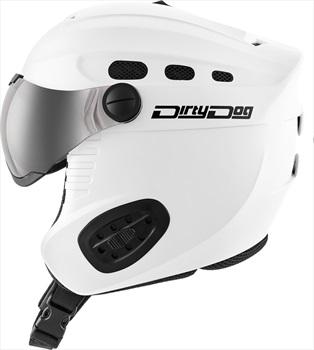 Dirty Dog Apache Ski/Snowboard Visor Helmet L Matte White Flash Silver