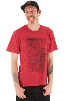 LINE Adult Unisex Skis Pollard Art T Shirt, L Heather Red