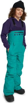 Burton Child Unisex Stark Gore-Tex Pants Kid's Snowboard/Ski Bib Pants, M Dynasty