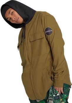Analog Integrate Hooded Flannel Unisex Long Sleeve Shirt, M Martini