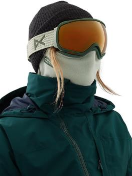 Anon Microfur Neckwarmer Women's MFI Fleece Facemask, Sage