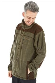 Pinewood Prestwick Exclusive Full Zip Fleece, M Olive/Brown