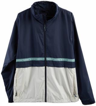 Burton Adult Unisex Melter Waterproof Windbreaker Jacket, M Dress Blue/Stout White