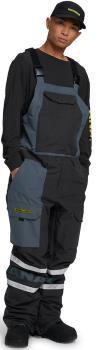 Analog Bib Unisex Snowboard/Ski Pants, L Phantom/Dark Slate