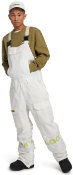 Analog Bib Unisex Snowboard/Ski Pants, XL Stout White