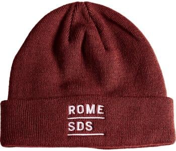 Rome Stacked Beanie, One Size Burgundy