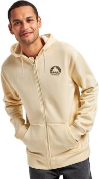 Burton Oak Seasonal Mens Hooded Fleece Jacket M Crème Brûlée Heather