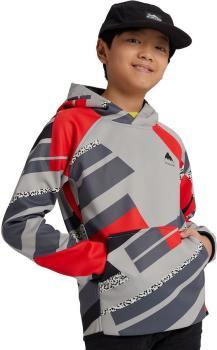 Burton Crown Weatherproof Kids Pullover Hoodie Age 10 Bold Throwback