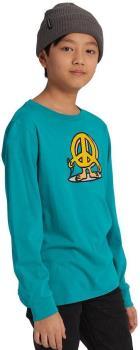 Burton Duncan Kids' Long Sleeve Cotton T-Shirt, Age 10 Dynasty Green