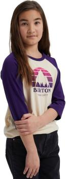 Burton Underhill Raglan Kids' Cotton T-Shirt, Age 10 Crème Brûlée