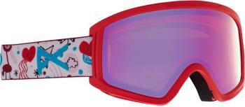 Anon Tracker 2.0 Red Solex Kid's Ski/Snowboard Goggles, S/M Doodle