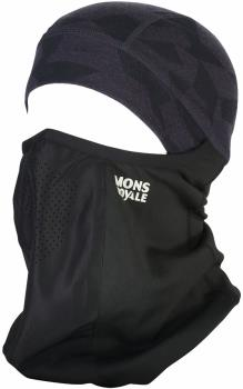 Mons Royale Adult Unisex Storm Tech Merino Wool Balaclava, One Size Black/9 Iron