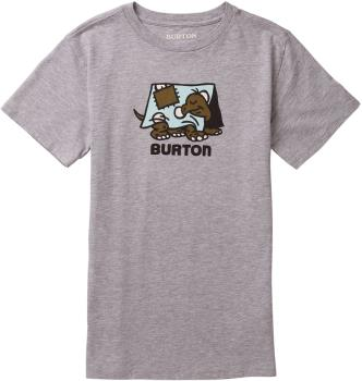 Burton Emerald Kid's Short Sleeve T Shirt, Age 5-6 Gray Heather