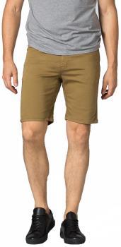 "DU/ER (DUER) No Sweat Slim Fit Stretch Cotton Shorts, 34"" Tobacco"