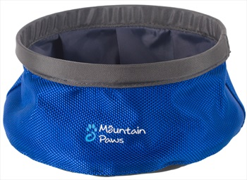 Mountain Paws Dog Water Bowl Travel Pet Bowl, Small Blue