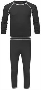 Manbi Kid's Supatherm Longsleeve Thermal Set, 7-8 Yrs Black