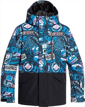 Quiksilver Mission Block Kid's Ski Jacket, Age 12 Bark To The Moon