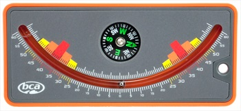 BCA Slope Meter Snow Study Inclinometer, Orange