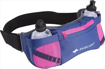 Raidlight Womens Activ Dual 300 Belt, Dark Blue/Pink