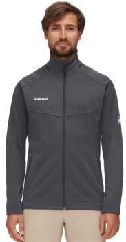 Mammut Nair Mid Layer Full-Zip Fleece Jacket, L Black Mélange/White