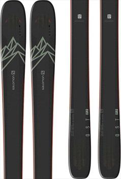 Salomon Adult Unisex Qst 92 Skis 185cm, Black/Green/Orange, Ski Only, 2021