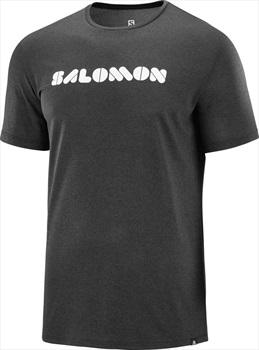 Salomon Men's Agile Short Sleeve Running T-shirt S Black