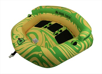 Radar Teacup Towable Inflatable Tube, 3 Rider Green Yellow 2020