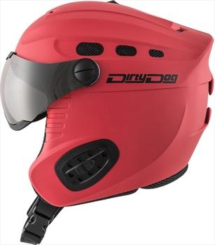 Dirty Dog Apache Flash Silver Ski/Snowboard Visor Helmet, S Matte Red
