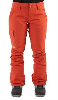DC Recruit Women's Ski/Snowboard Pants, S Hot Sauce