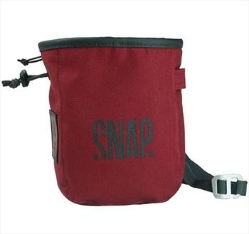 Snap Pocket Zip Rock Climbing Chalk Bag, 17 X 13 X 7 Cm, Burgundy