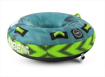 Jobe Hotseat Towable Inflatable Tube, 1 Rider Blue Green 2021